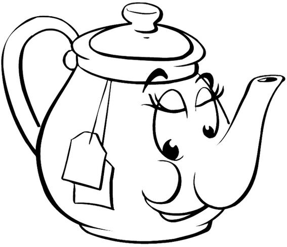 Teapot Coloring And Activity Page For Kids