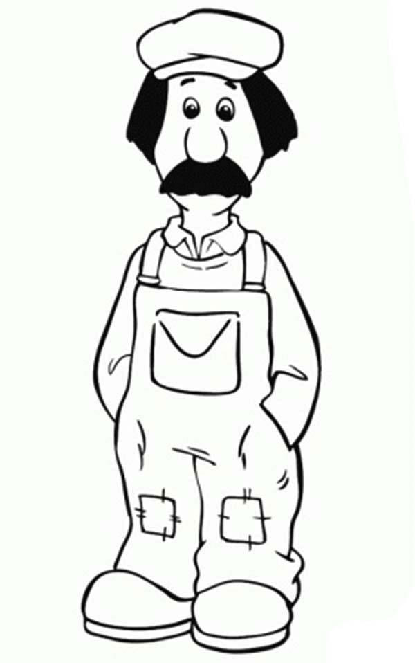 Ted Glen Is The Handyman From Postman Pat Coloring Pages