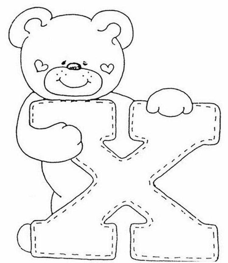 Teddy Bear Alphabet Coloring Pages