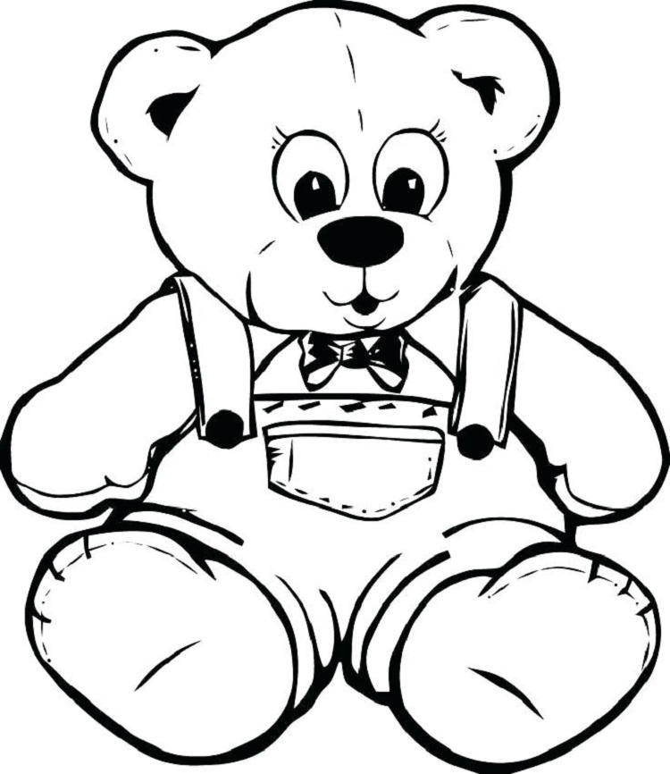 Teddy Bear Coloring Book Pages