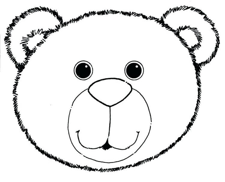 Teddy Bear Face Coloring Pages