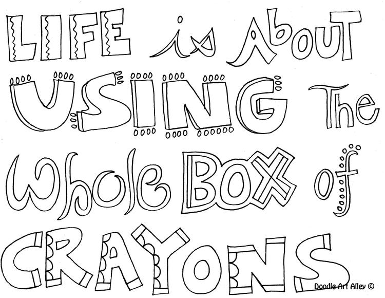 Teen Quote Coloring Pages To Print