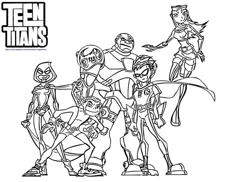 Teen Titan Coloring Pages For Boys