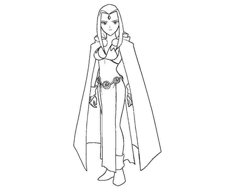 Teen Titans Coloring Pages Raven
