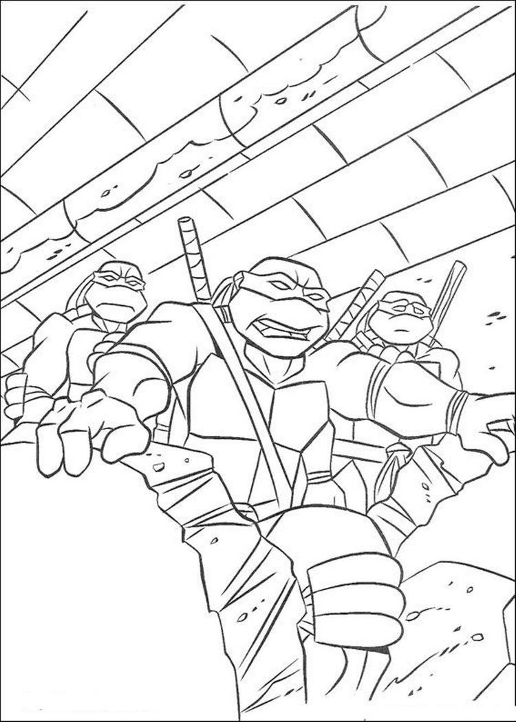 Teenage Ninja Mutant Free Superhero Coloring Pages