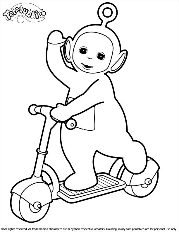 Teletubbies Coloring Pages Po