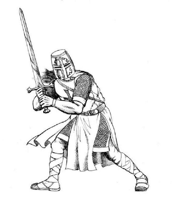 Templar Knights Coloring Pages