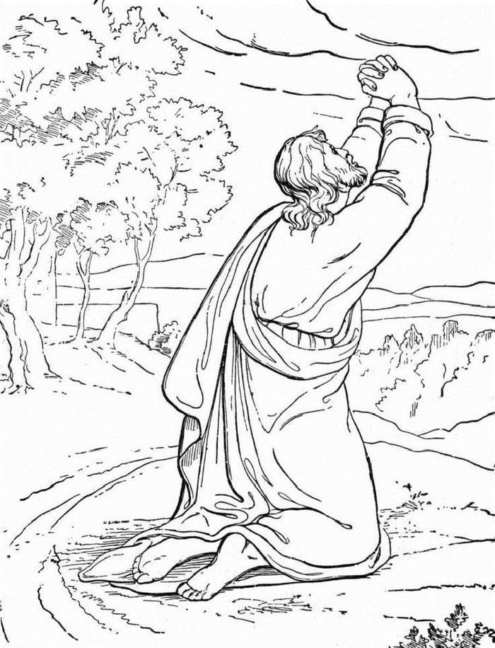 Temptation Of Jesus Coloring Pages