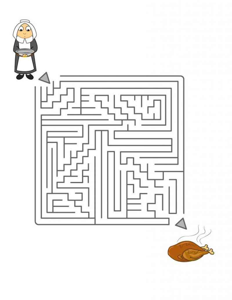 Thanksgiving Maze Puzzle