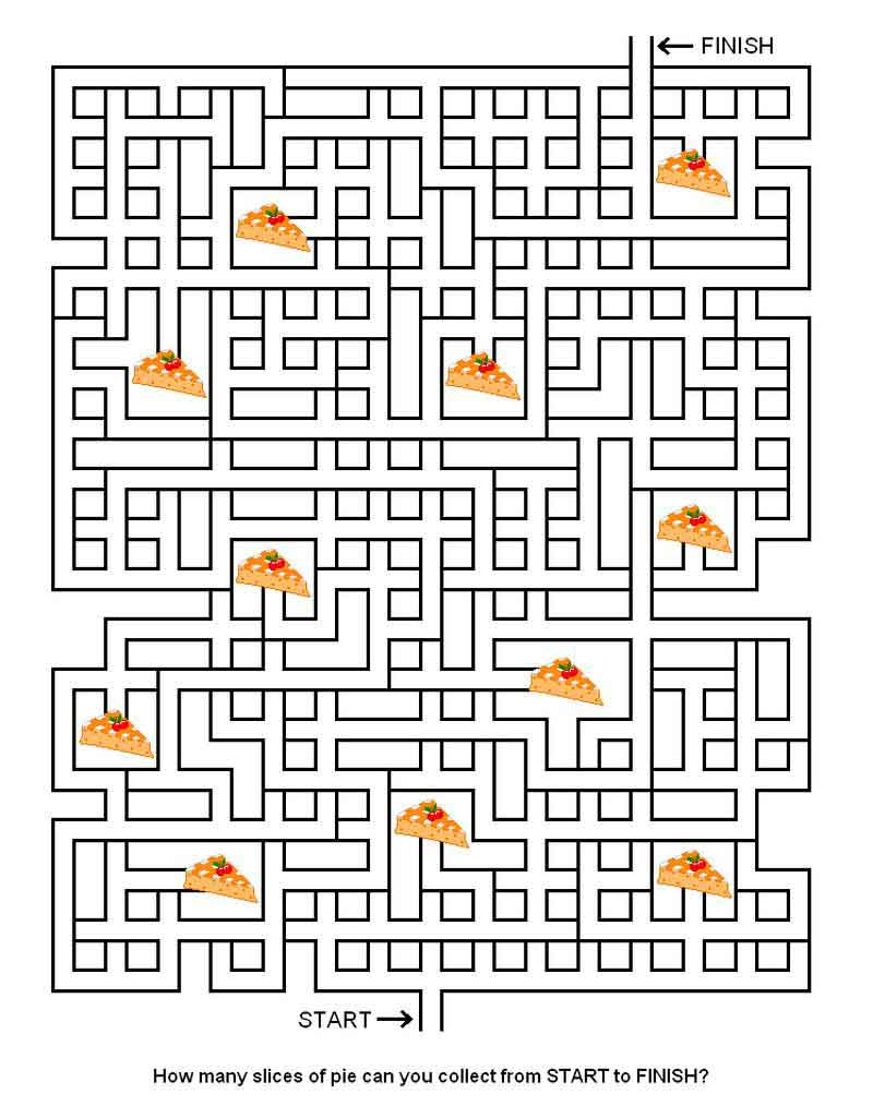 Thanksgiving Mazes Printable