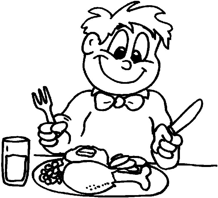 Thanksgiving Coloring Pages Eat Meal