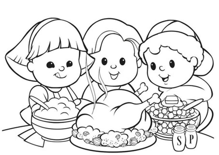 Thanksgiving Coloring Pages Kids And Food