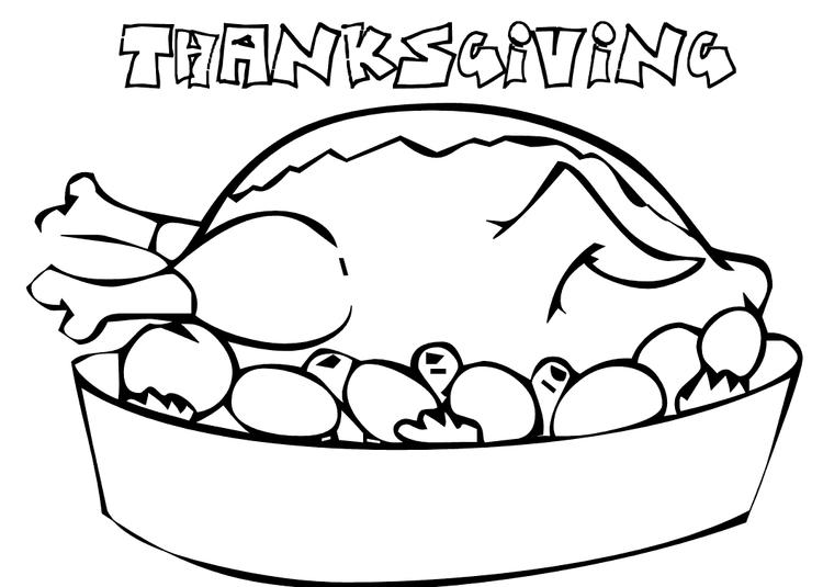 Thanksgiving Coloring Pages Of Food