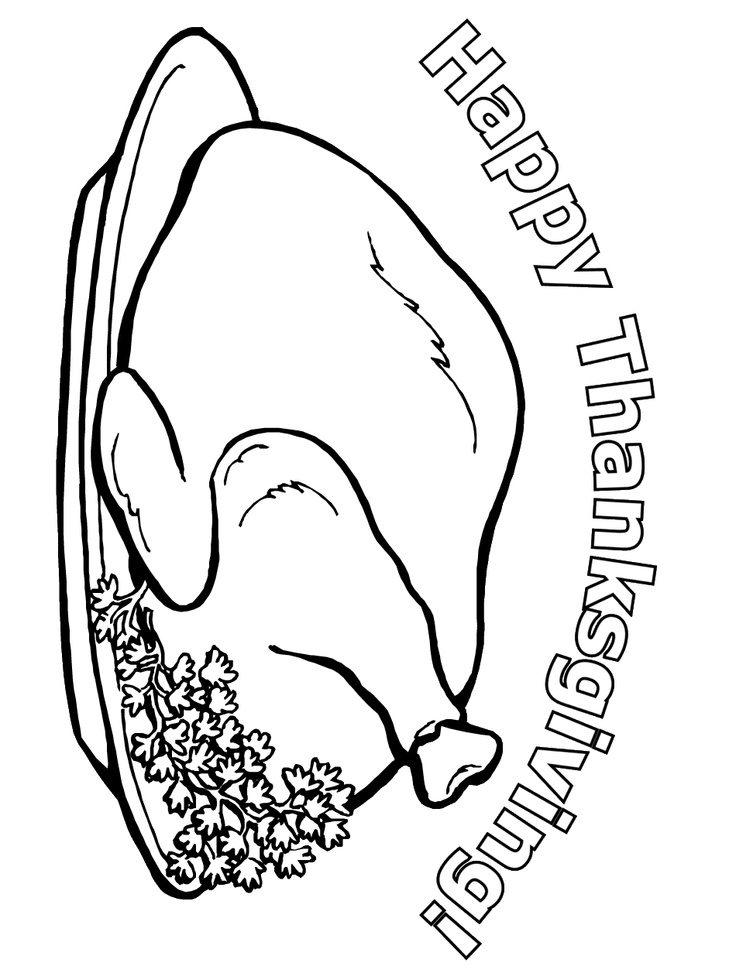 Thanksgiving Meal Coloring Pages