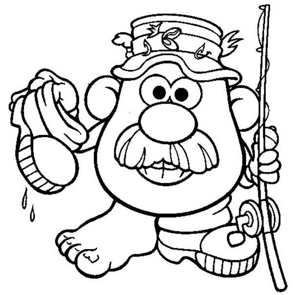 The Adventure Of Mr Potato Head Coloring Pages Coloring Ideas