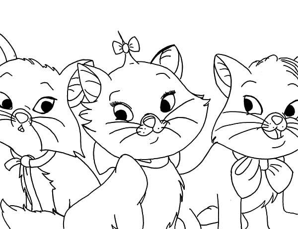 The Aristocats Brothers And Sister Coloring Pages