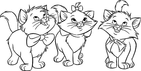 The Aristocats Marie Berlioz Toulouse Coloring Pages