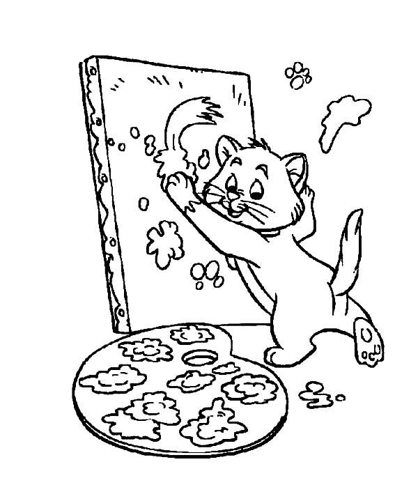 The Aristocats Toulouse Learn To Paint Coloring Pages