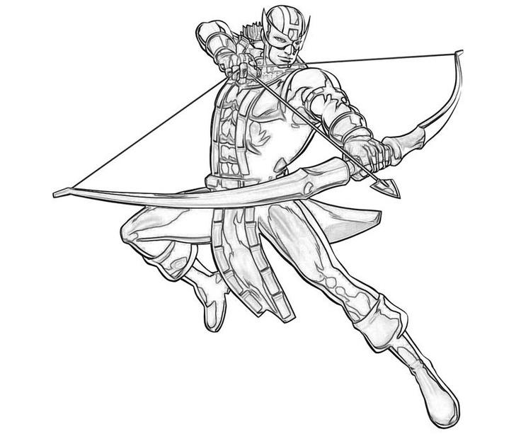 The Avengers Coloring Pages Hawkeye