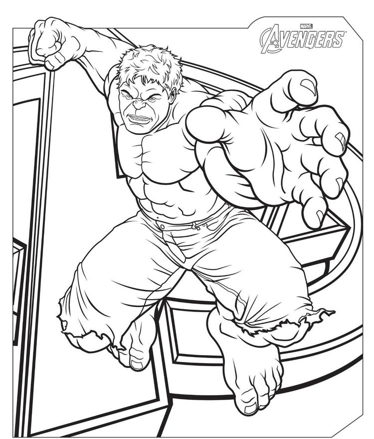 The Avengers Hulk Coloring Pages