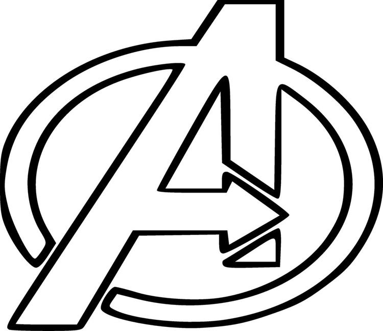 The Avengers Logo Coloring Pages
