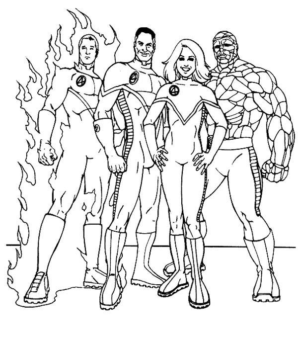 The Famous Fantastic Four Coloring Pages