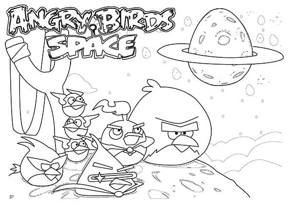 The Famouse Angry Bird Space Coloring Pages