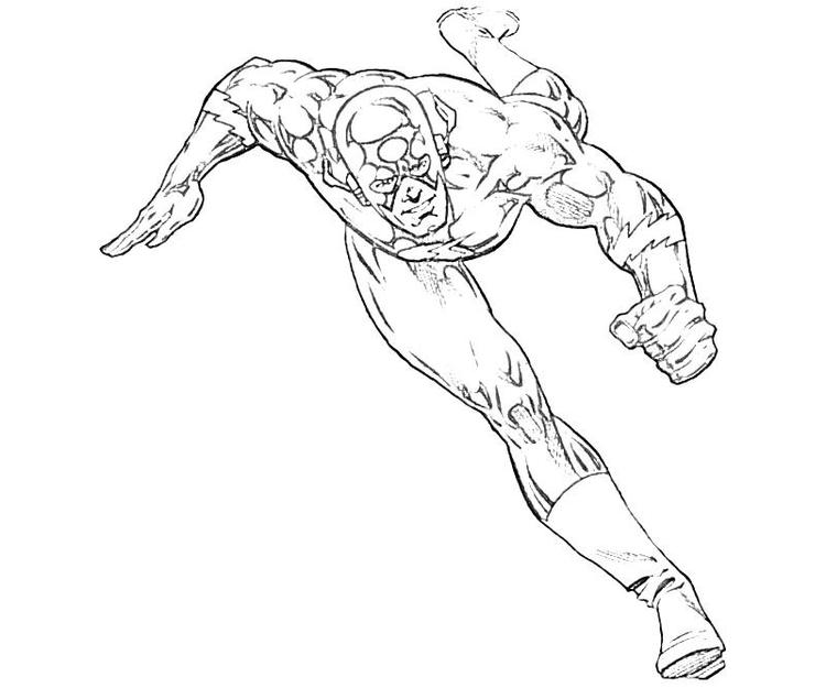 The Flash Coloring Pages Cw