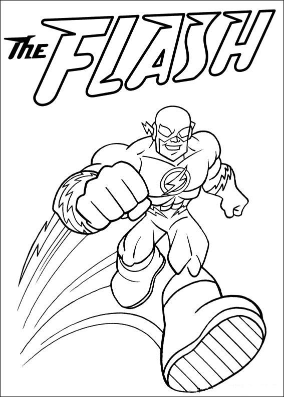 The Flash Coloring Pages For Kids