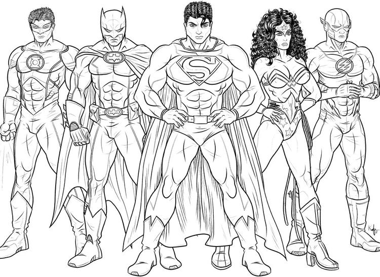 The Flash Coloring Pages Justice League