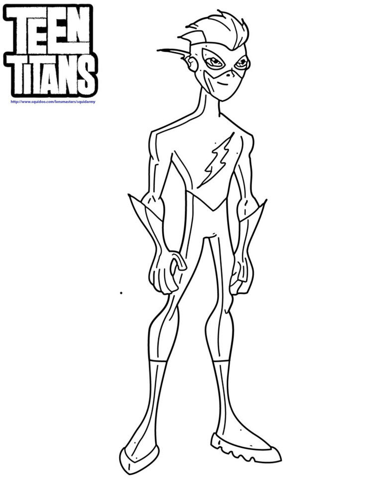 The Flash Coloring Pages Teen Titans