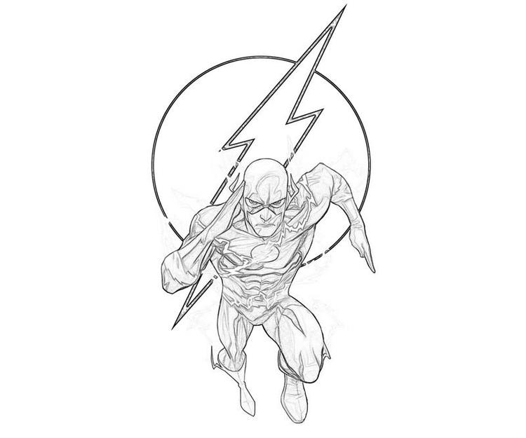 The Flash Coloring Pages To Print