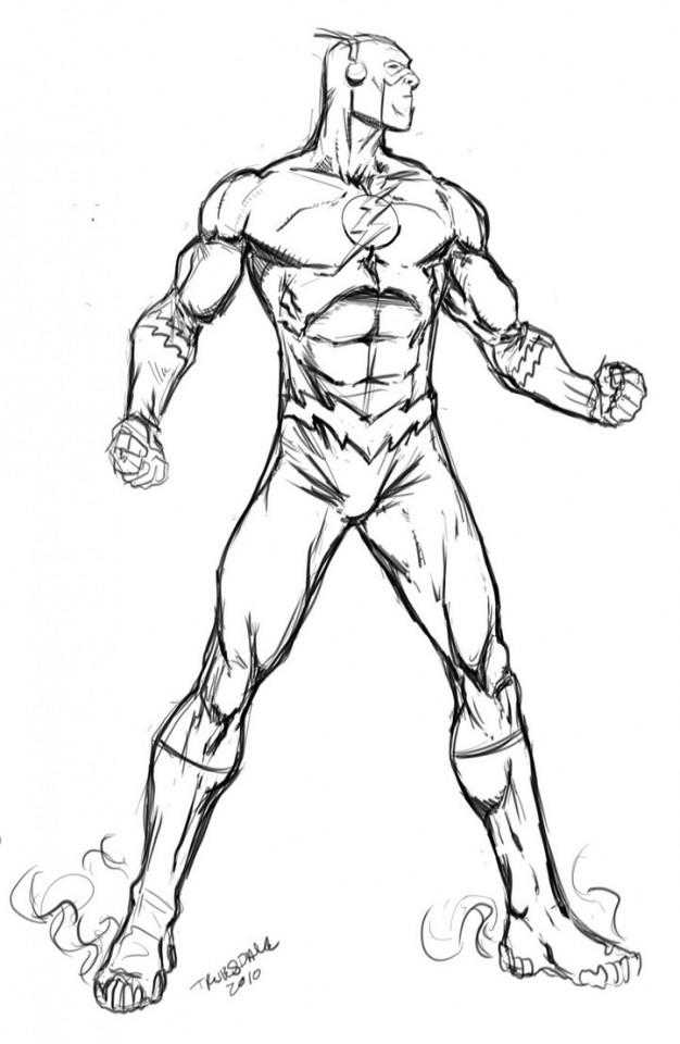 The Flash Cw Coloring Pages