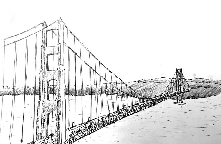 The Golden Gate Bridge Coloring Sheet