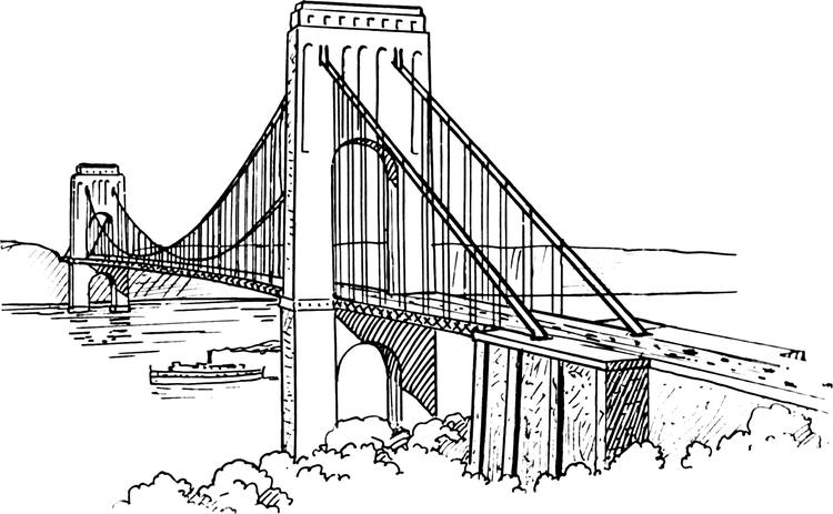 The Golden Gate Bridge Drawing