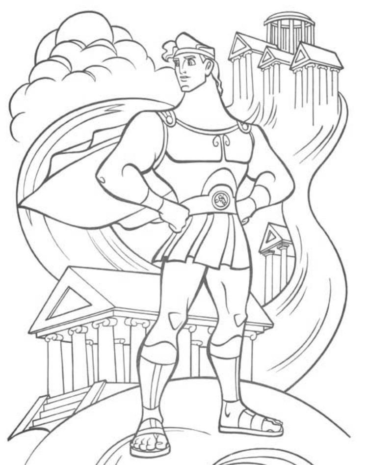 The Great Hercules Cartoon Coloring Pages
