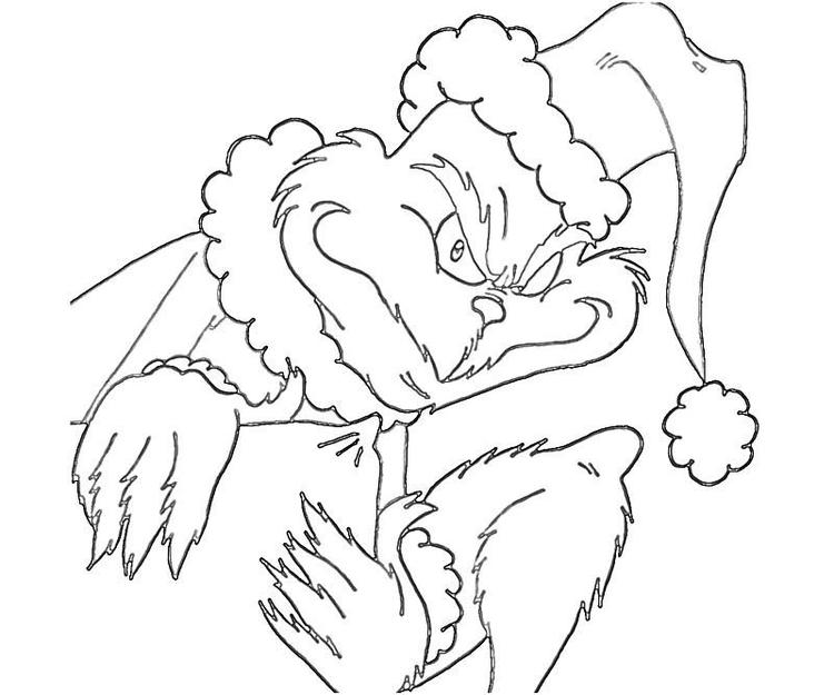 The Grinch Coloring Pages Printable