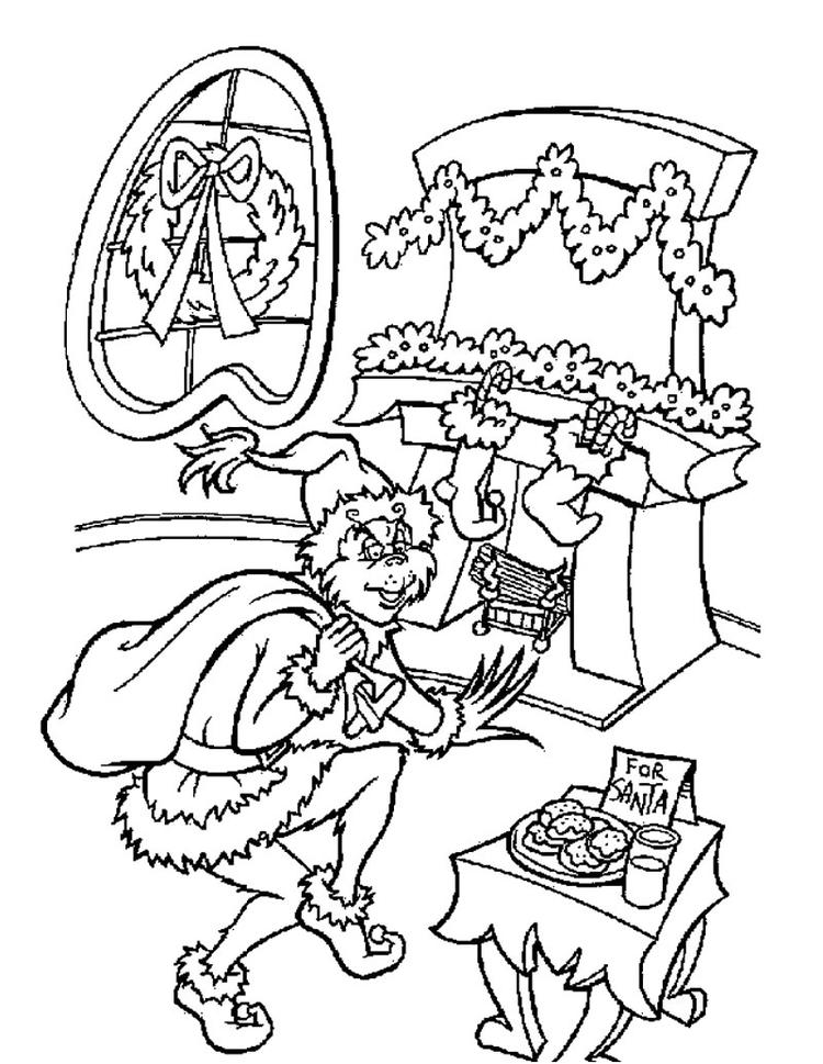 The Grinch Coloring Pages Stole Christmas