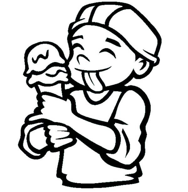 The Ice Cream Cone Coloring Pages