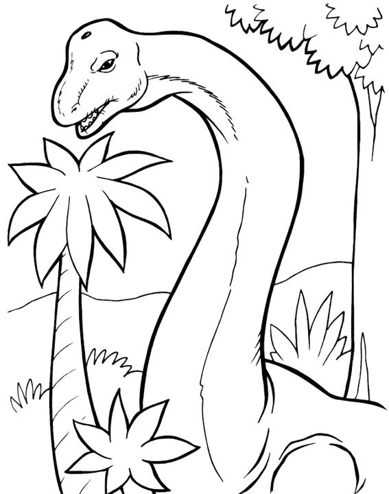 The Magnificent Brachiosaurus Coloring Pages For Kids