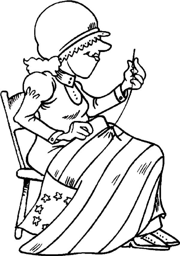 The Making Of American Revolution Flag Coloring Pages