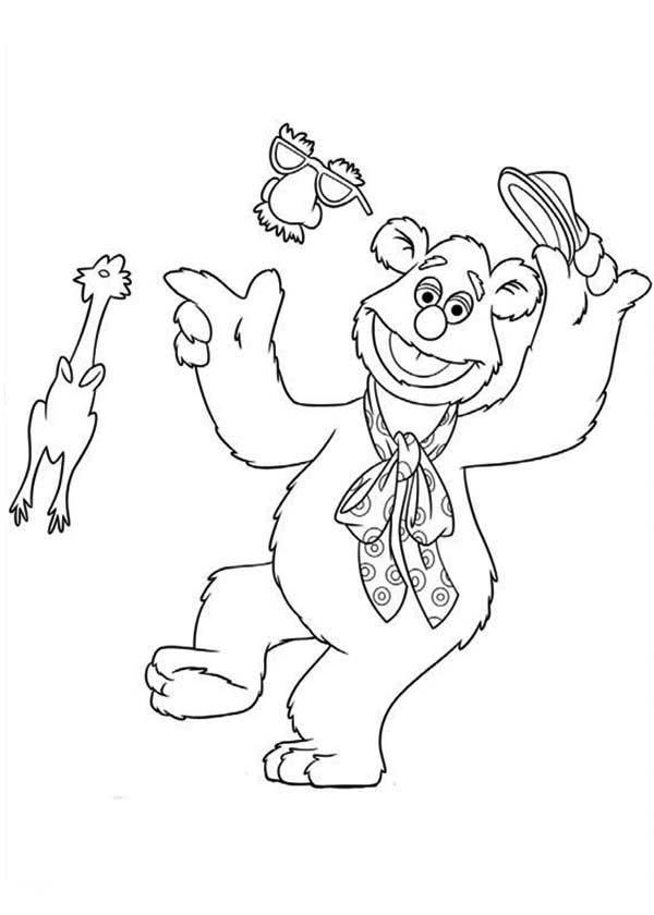 The Muppets An His Undercover Mask Coloring Pages
