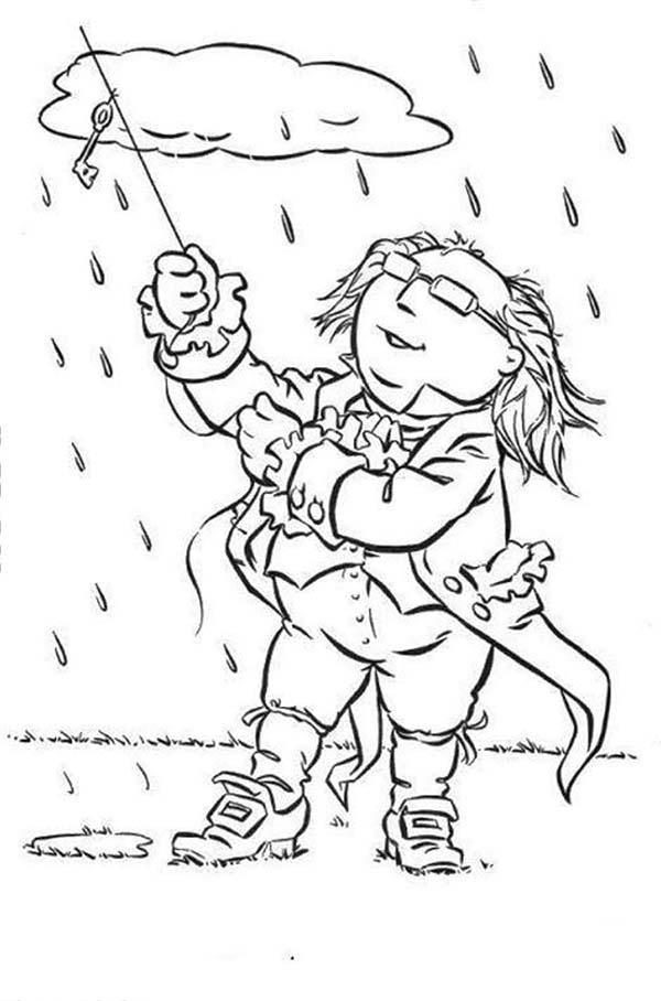The Muppets Show Doing Science In The Middle Of The Rain Coloring Pages