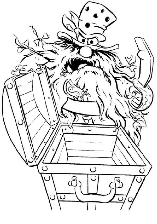 The Muppets Sweetums Found Empty Treasure Chest Coloring Pages