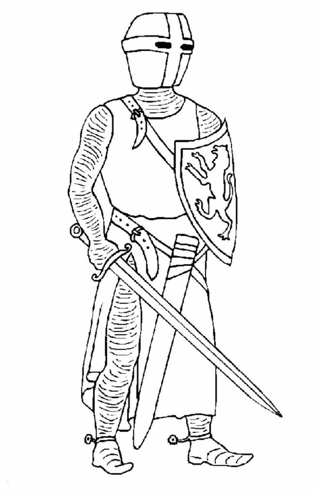 The New Knight Coloring Page