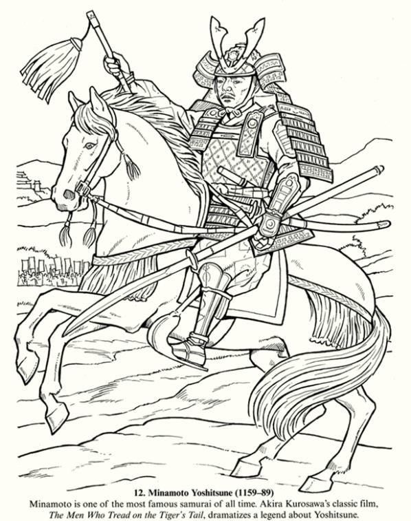 The Old War In Japan Coloring Pages