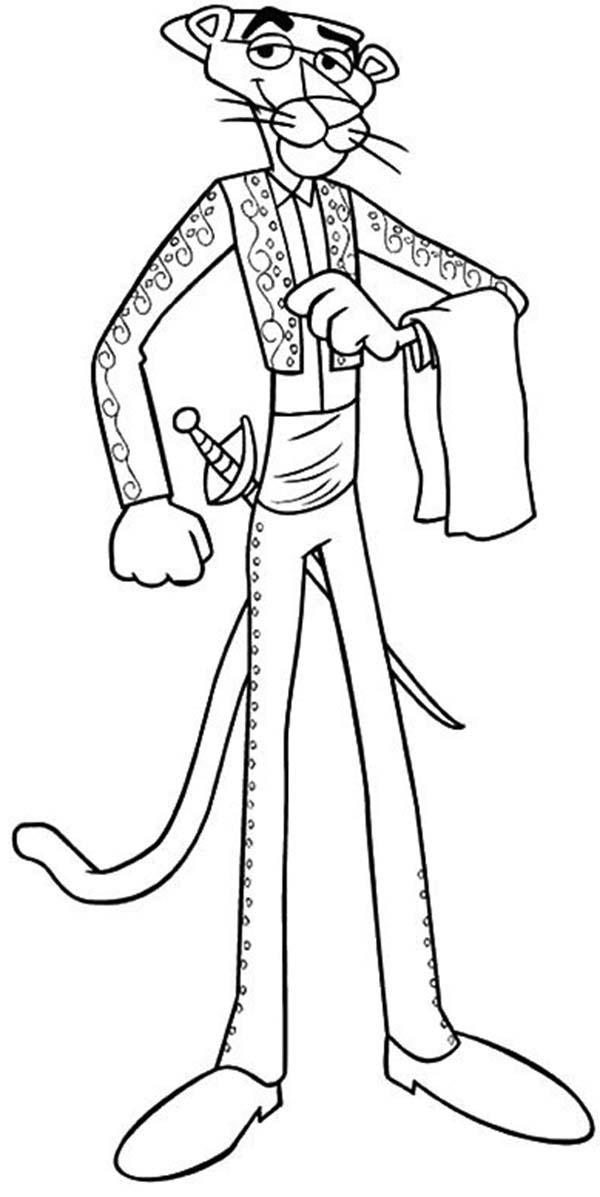 The Pink Panther Is A Toreador Coloring Pages
