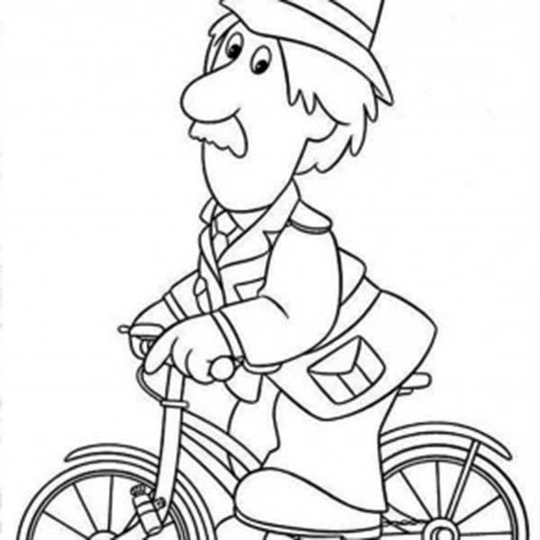The Policeman In Postman Pat Coloring Pages
