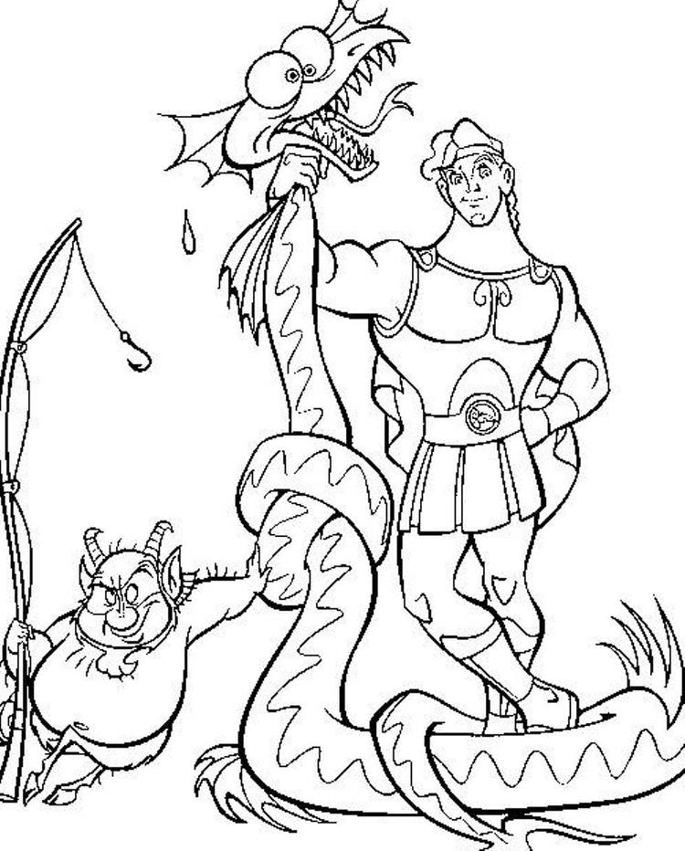 The Power Of Hercules Cartoon Coloring Pages