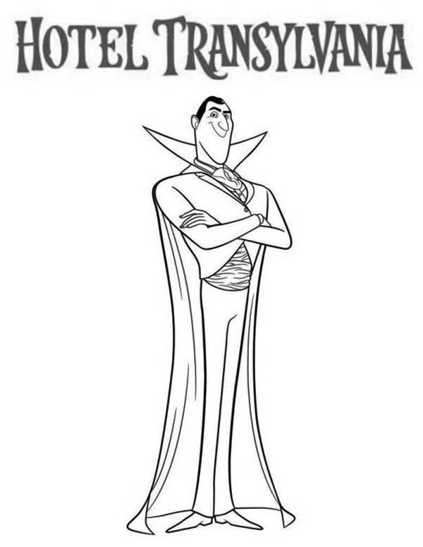 The Scarry Count Dracula From Hotel Transylvania Coloring Pages